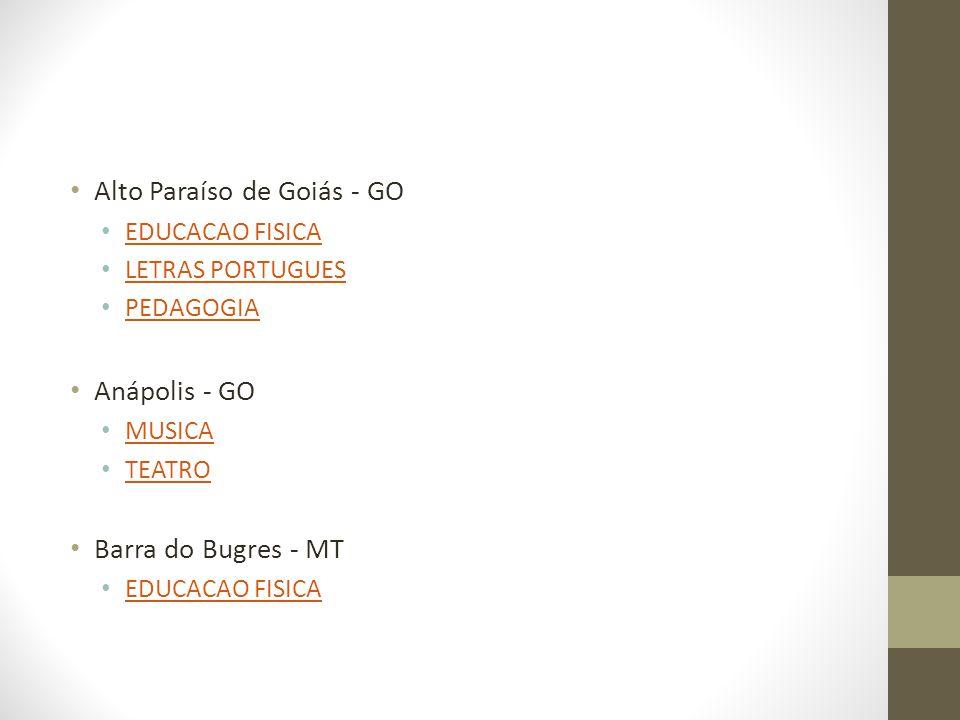 Alto Paraíso de Goiás - GO