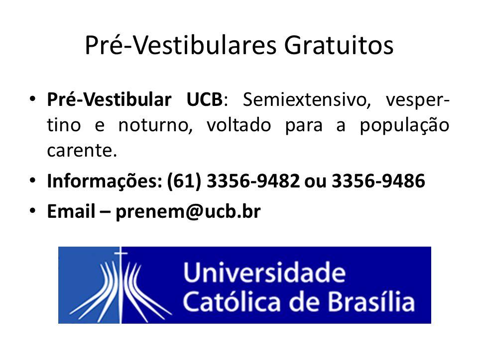 Pré-Vestibulares Gratuitos