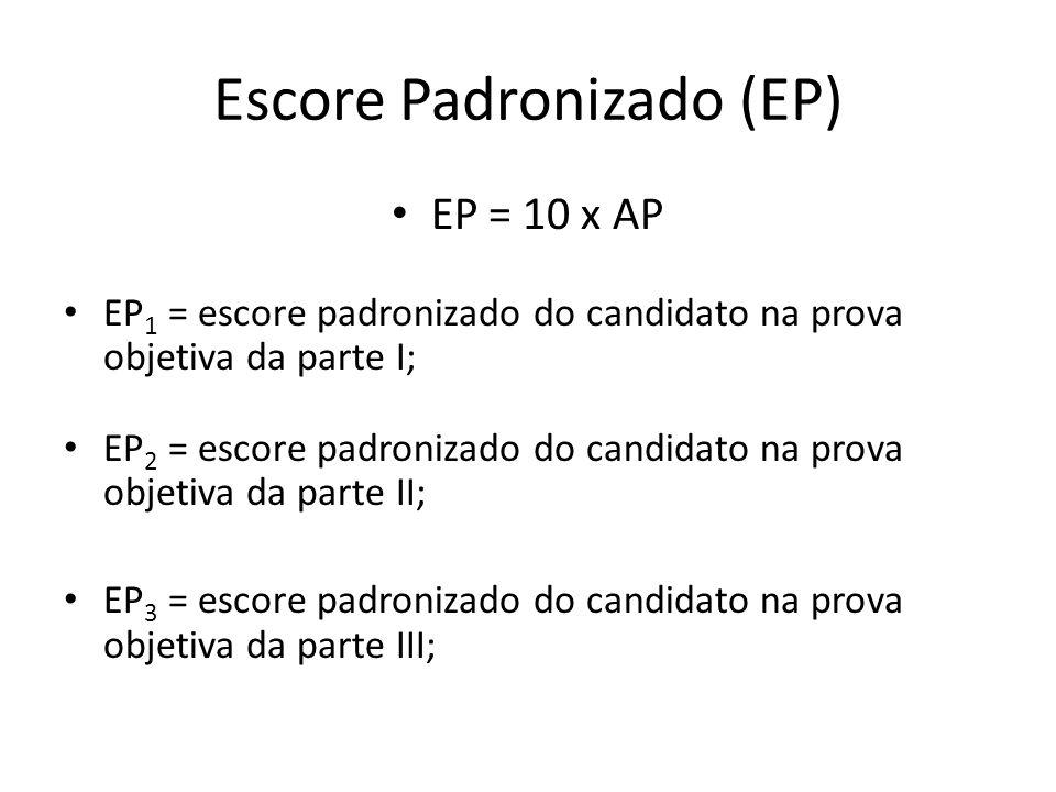 Escore Padronizado (EP)