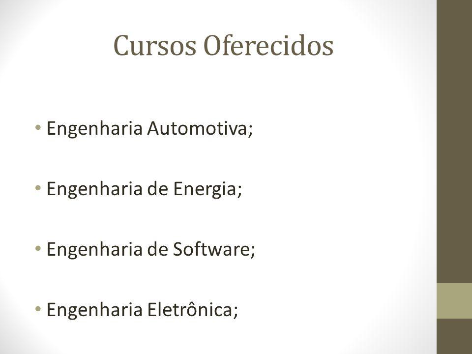 Cursos Oferecidos Engenharia Automotiva; Engenharia de Energia;