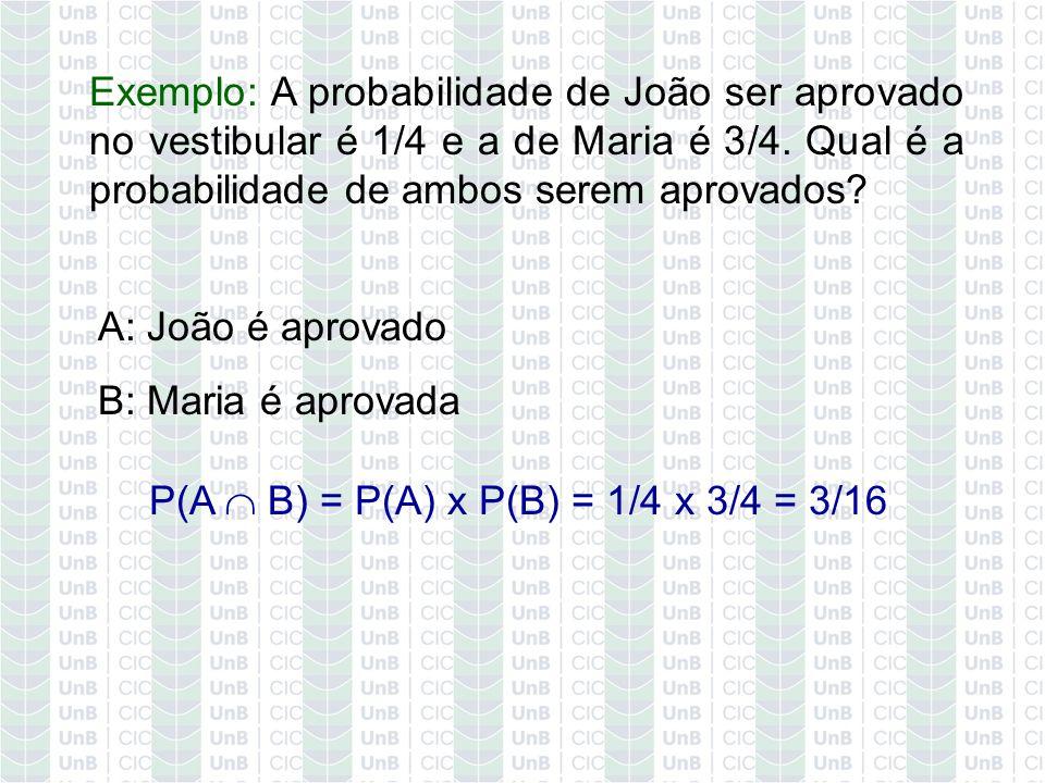 P(A  B) = P(A) x P(B) = 1/4 x 3/4 = 3/16