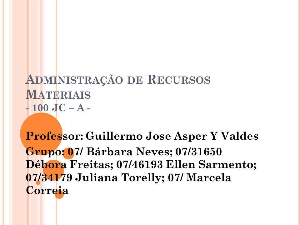 Administração de Recursos Materiais - 100 JC – A -