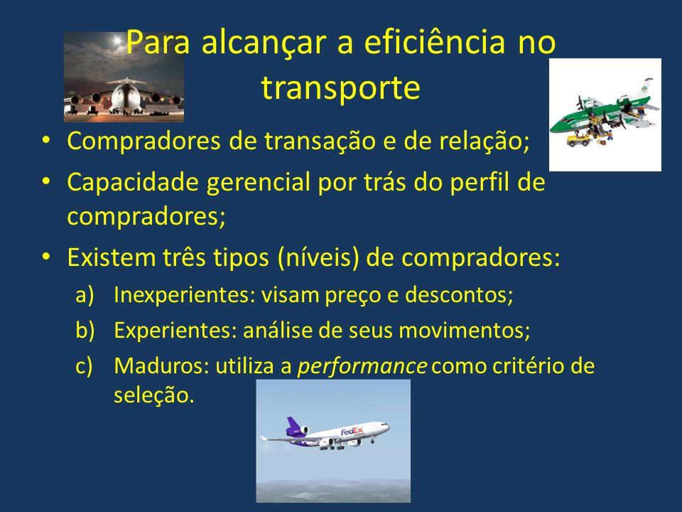 Para alcançar a eficiência no transporte