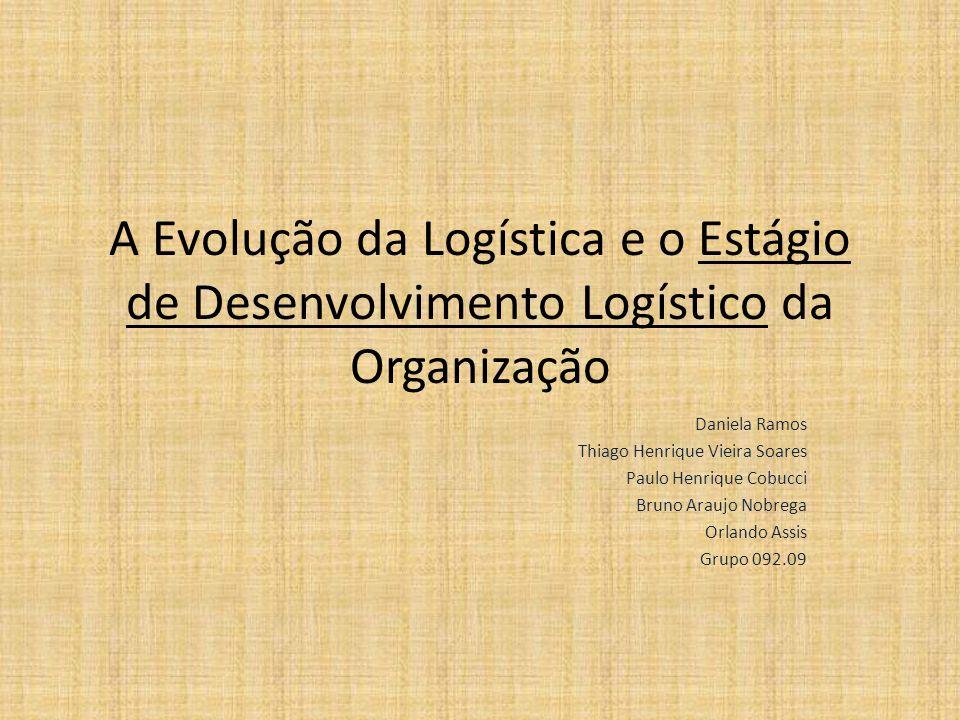 A Evolução da Logística e o Estágio de Desenvolvimento Logístico da Organização