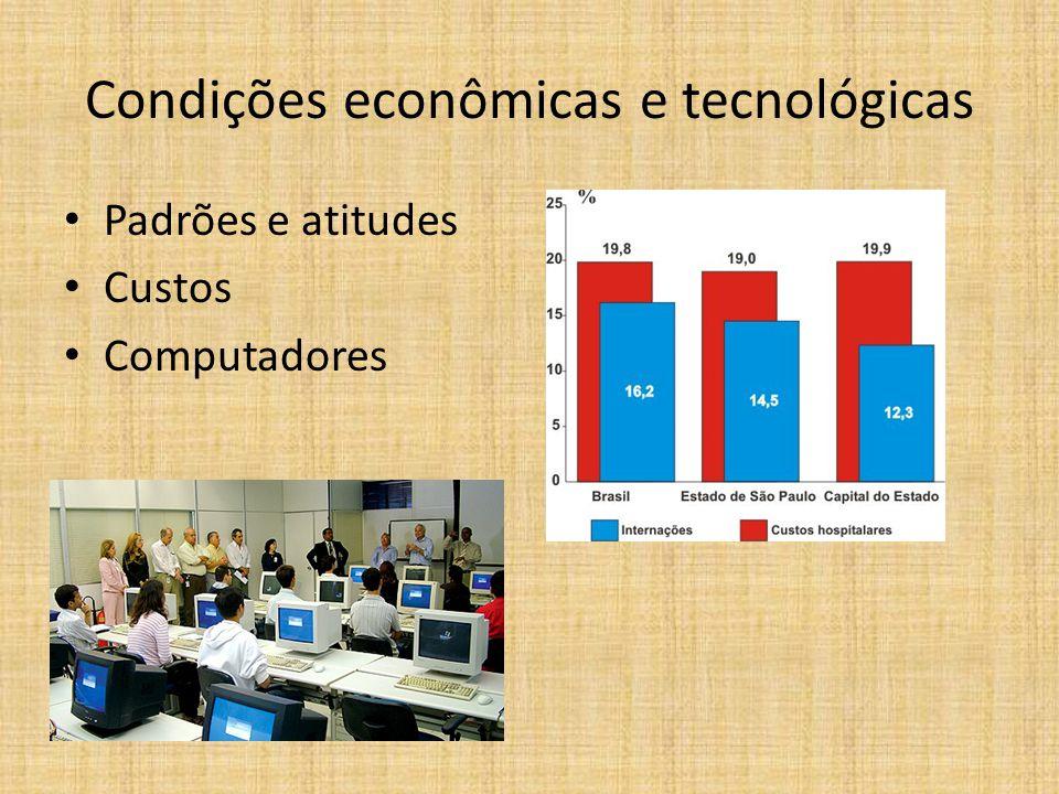 Condições econômicas e tecnológicas