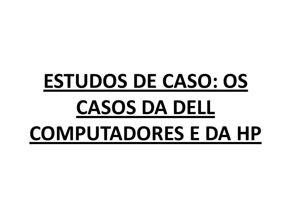 ESTUDOS DE CASO: OS CASOS DA DELL COMPUTADORES E DA HP