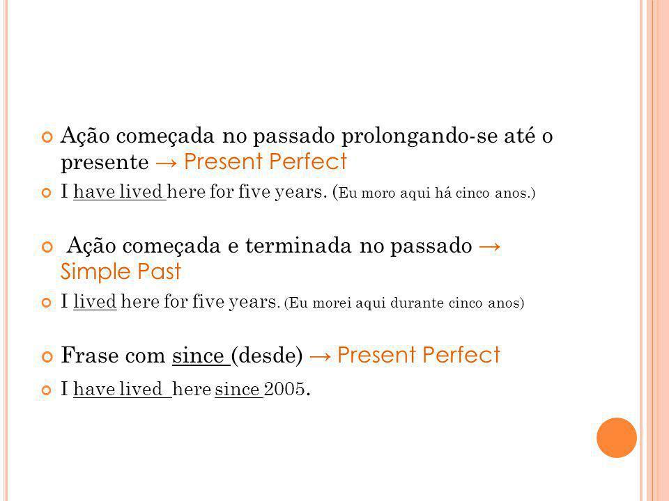 Ação começada e terminada no passado → Simple Past