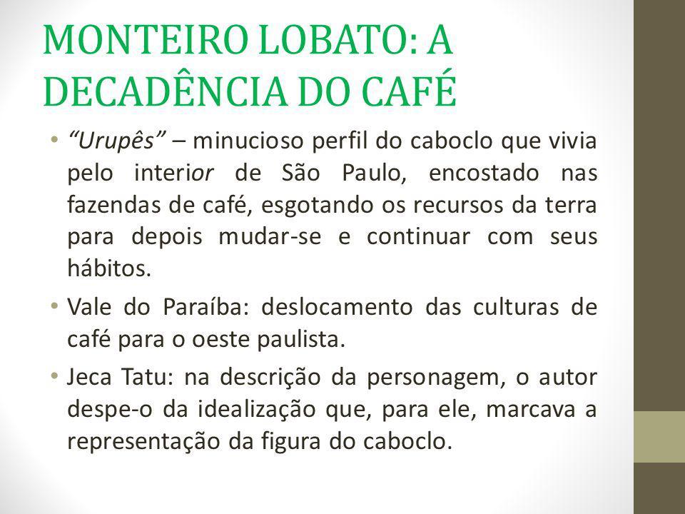 MONTEIRO LOBATO: A DECADÊNCIA DO CAFÉ
