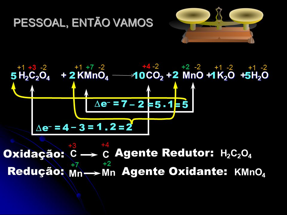H2C2O4 + KMnO4 CO2 + MnO + K2O + H2O