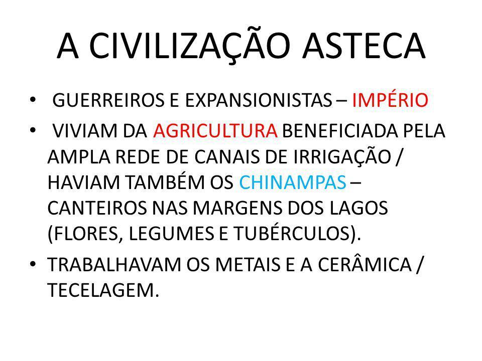 A CIVILIZAÇÃO ASTECA GUERREIROS E EXPANSIONISTAS – IMPÉRIO