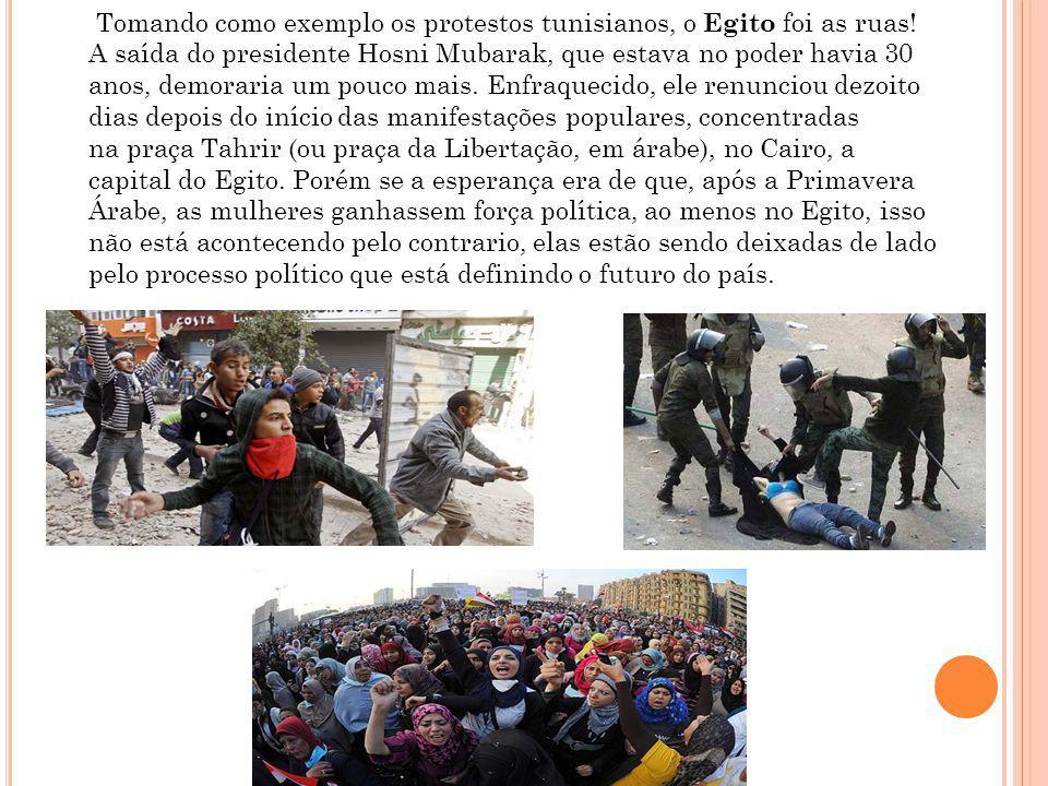 Tomando como exemplo os protestos tunisianos, o Egito foi as ruas!