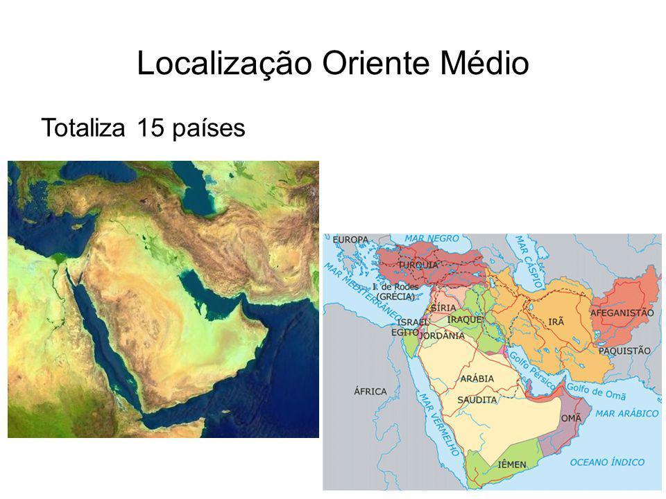 Localização Oriente Médio