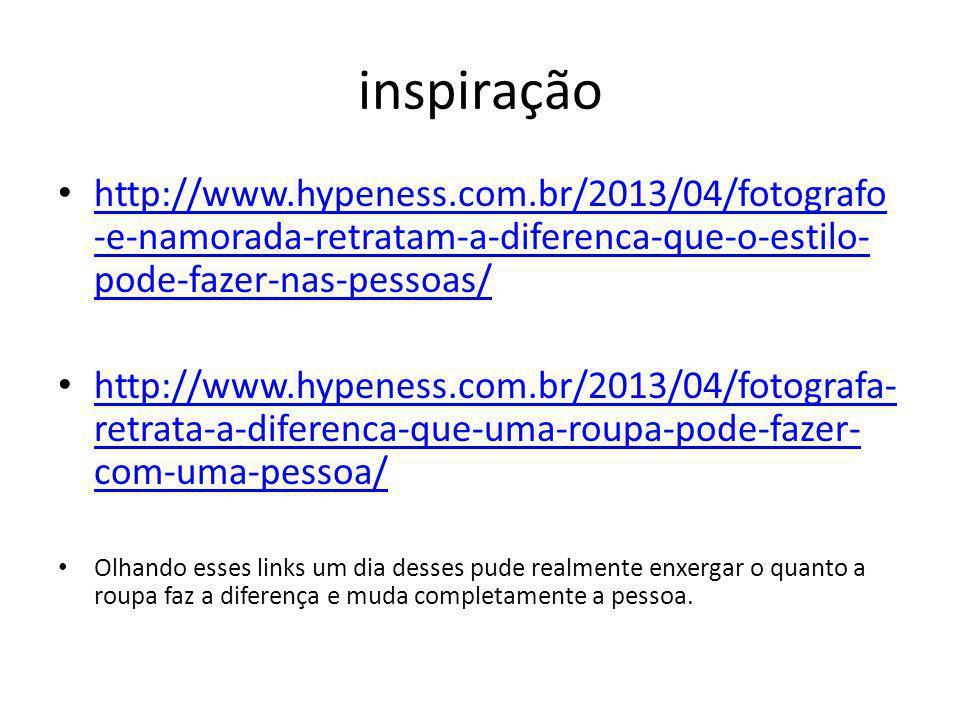 inspiração http://www.hypeness.com.br/2013/04/fotografo-e-namorada-retratam-a-diferenca-que-o-estilo-pode-fazer-nas-pessoas/
