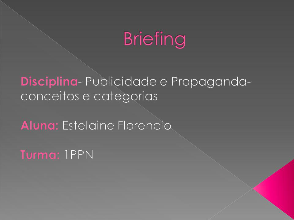 Briefing Disciplina- Publicidade e Propaganda- conceitos e categorias