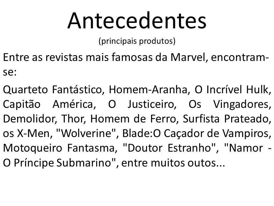 Antecedentes (principais produtos)