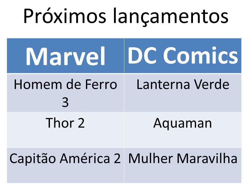 Marvel DC Comics Próximos lançamentos Homem de Ferro 3 Lanterna Verde