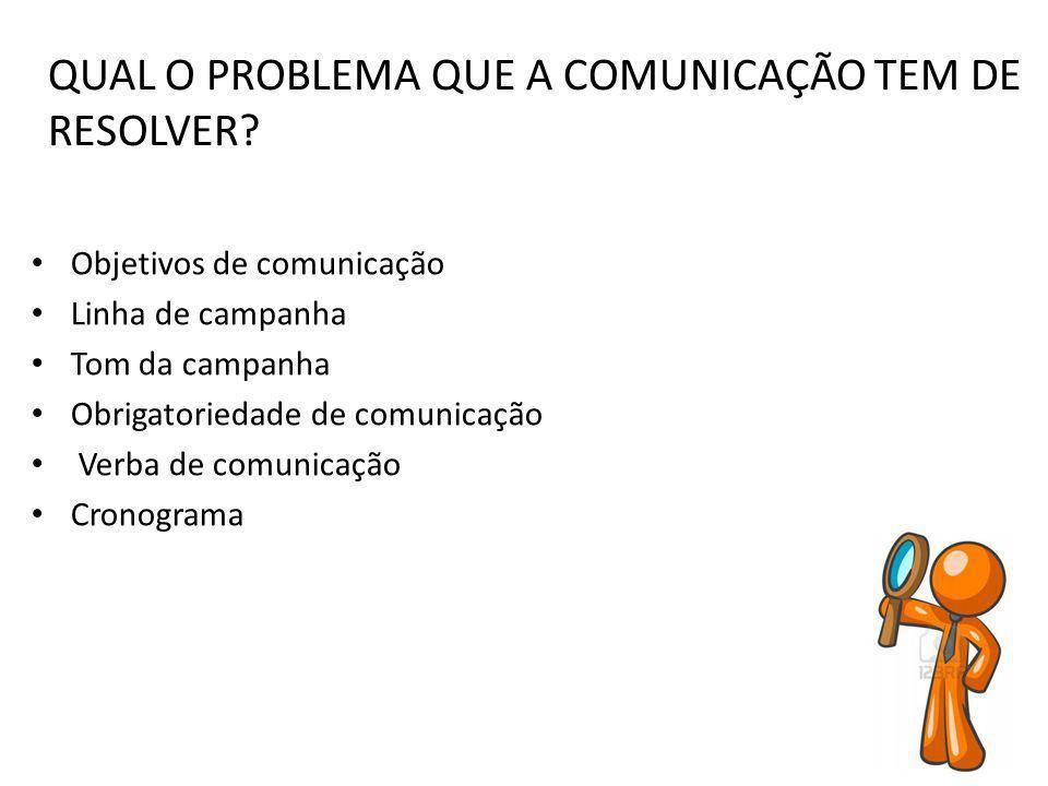 QUAL O PROBLEMA QUE A COMUNICAÇÃO TEM DE RESOLVER
