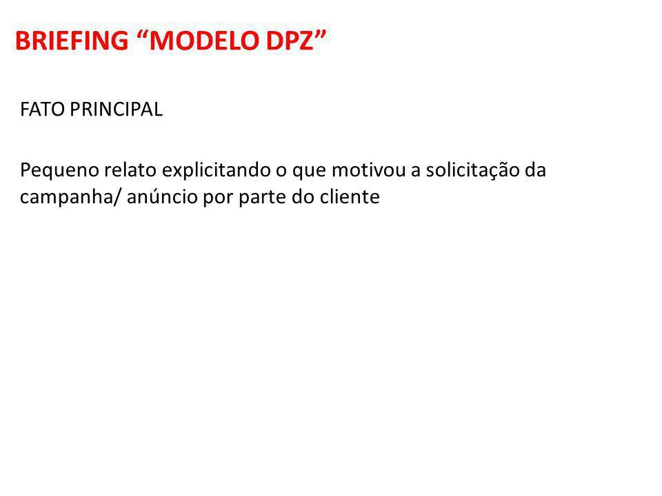 BRIEFING MODELO DPZ FATO PRINCIPAL
