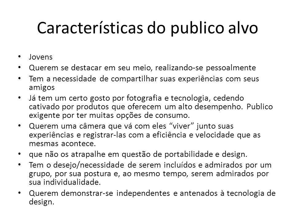 Características do publico alvo