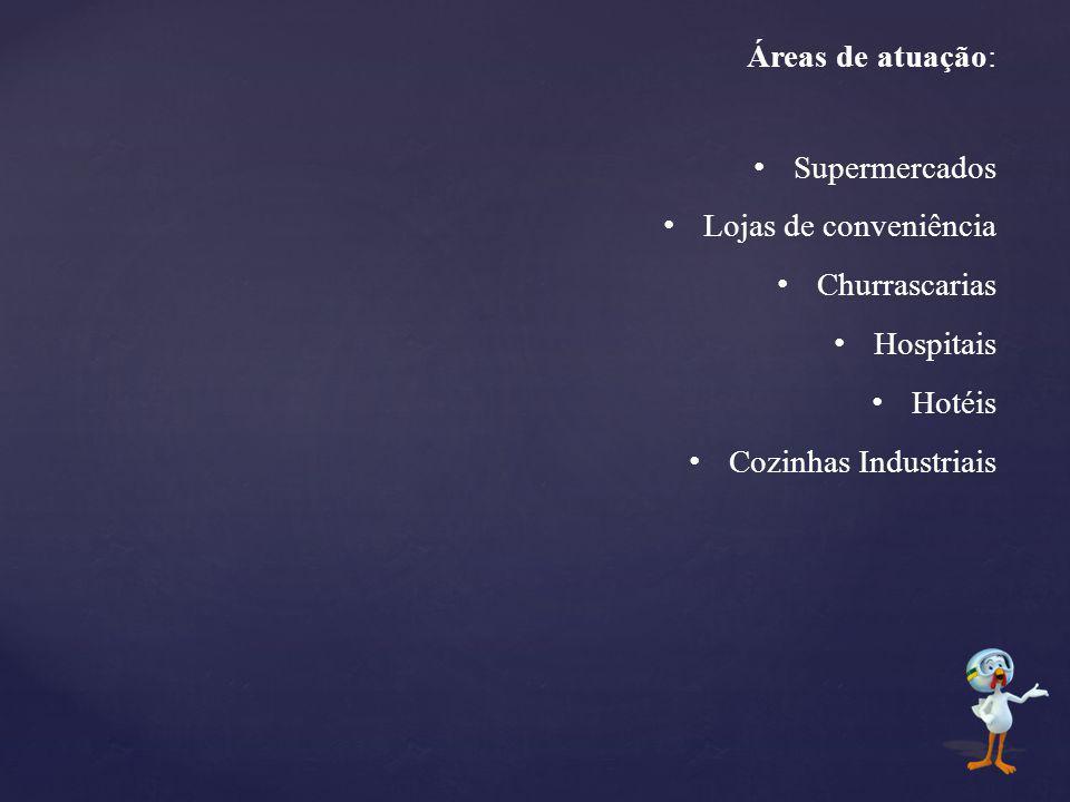 Áreas de atuação: Supermercados. Lojas de conveniência.