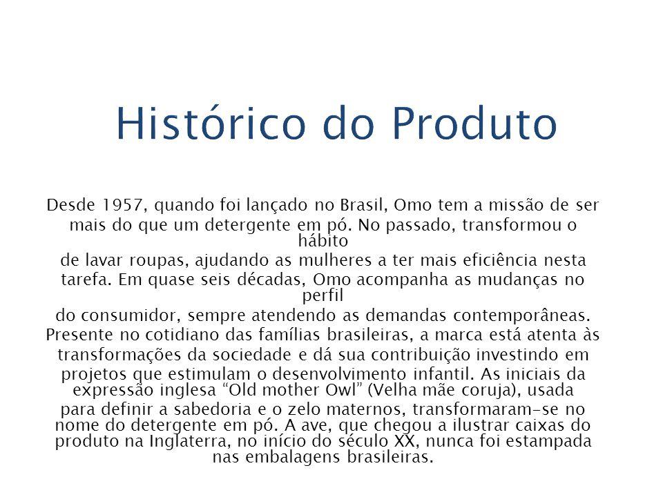 Histórico do Produto Desde 1957, quando foi lançado no Brasil, Omo tem a missão de ser.