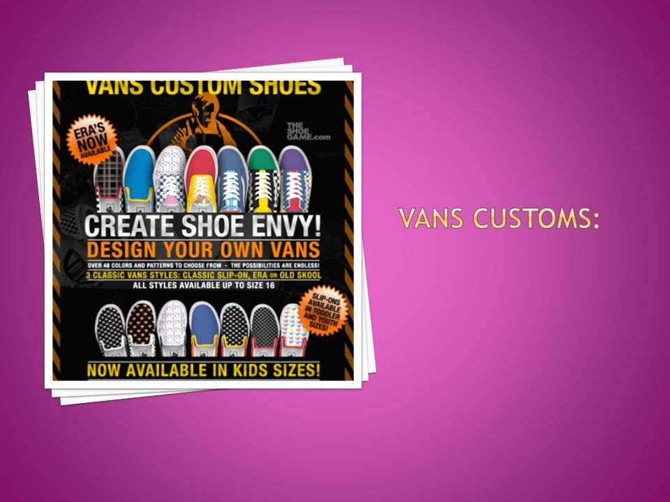 Vans customs: