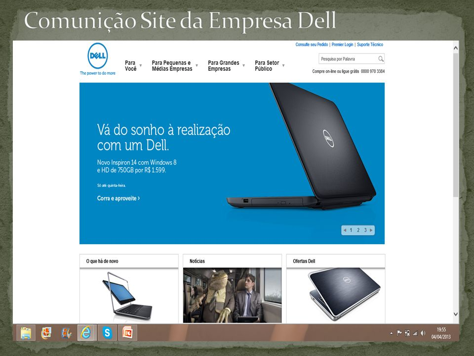 Comunição Site da Empresa Dell