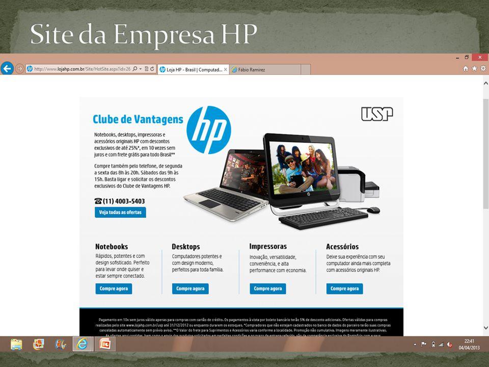 Site da Empresa HP