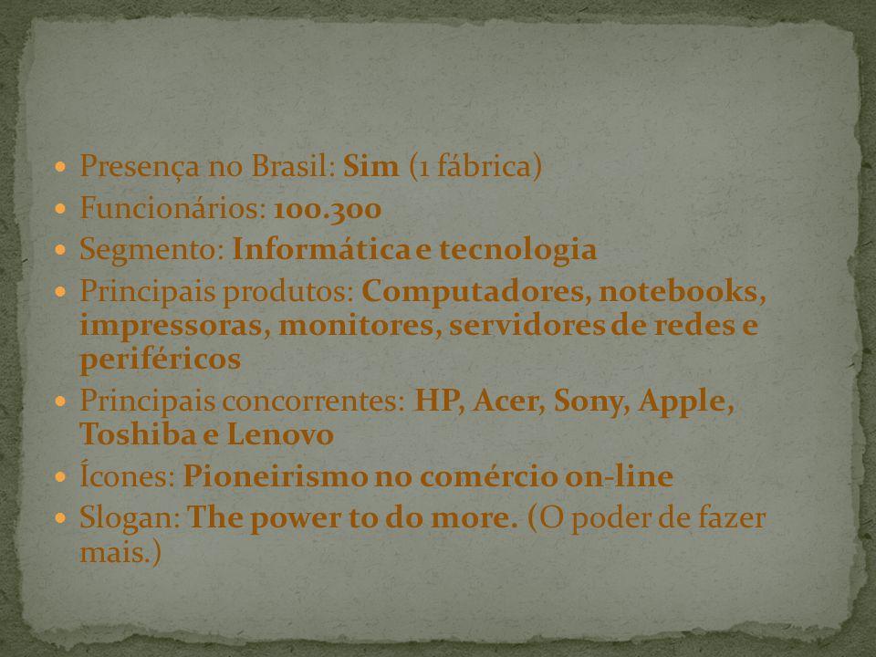 Presença no Brasil: Sim (1 fábrica)