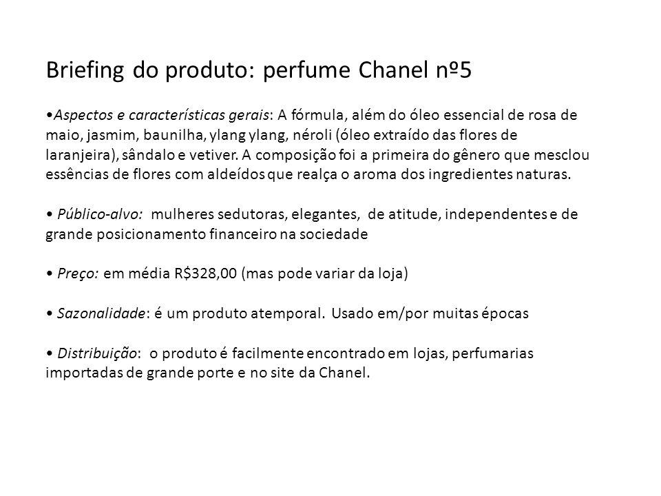 Briefing do produto: perfume Chanel nº5
