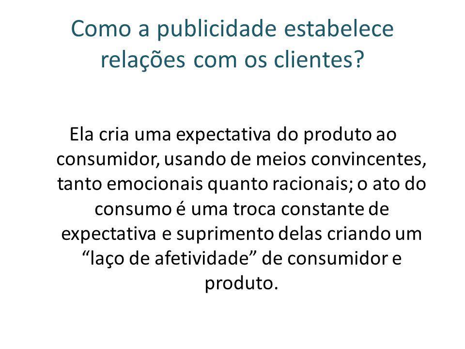 Como a publicidade estabelece relações com os clientes