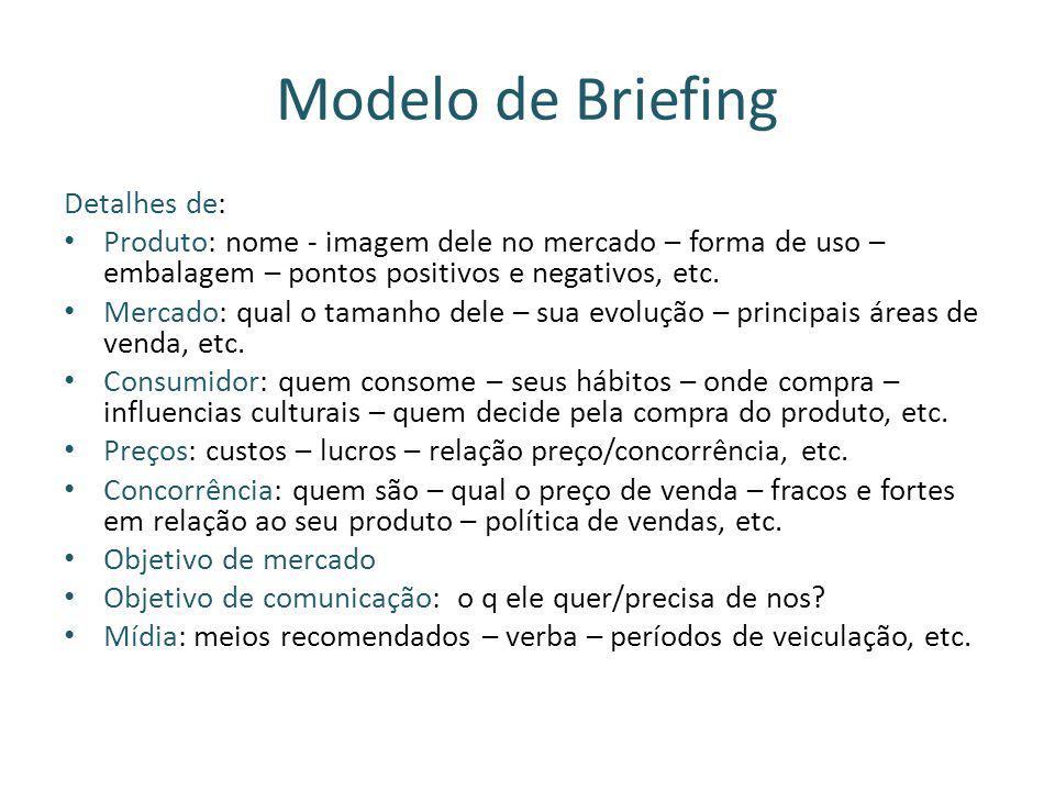 Modelo de Briefing Detalhes de: