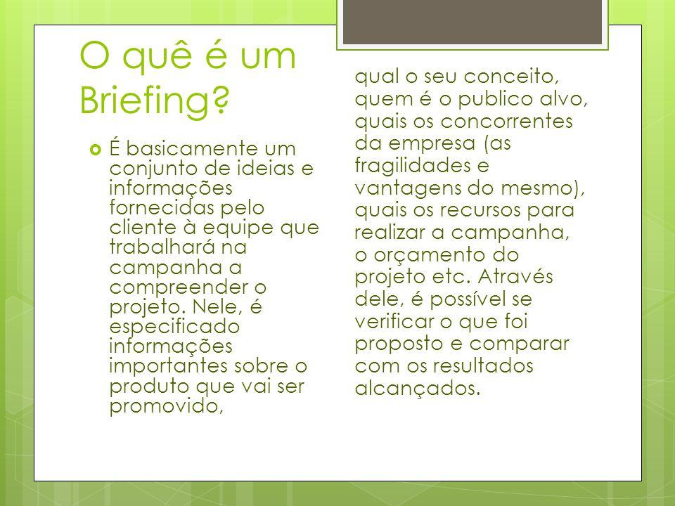 O quê é um Briefing