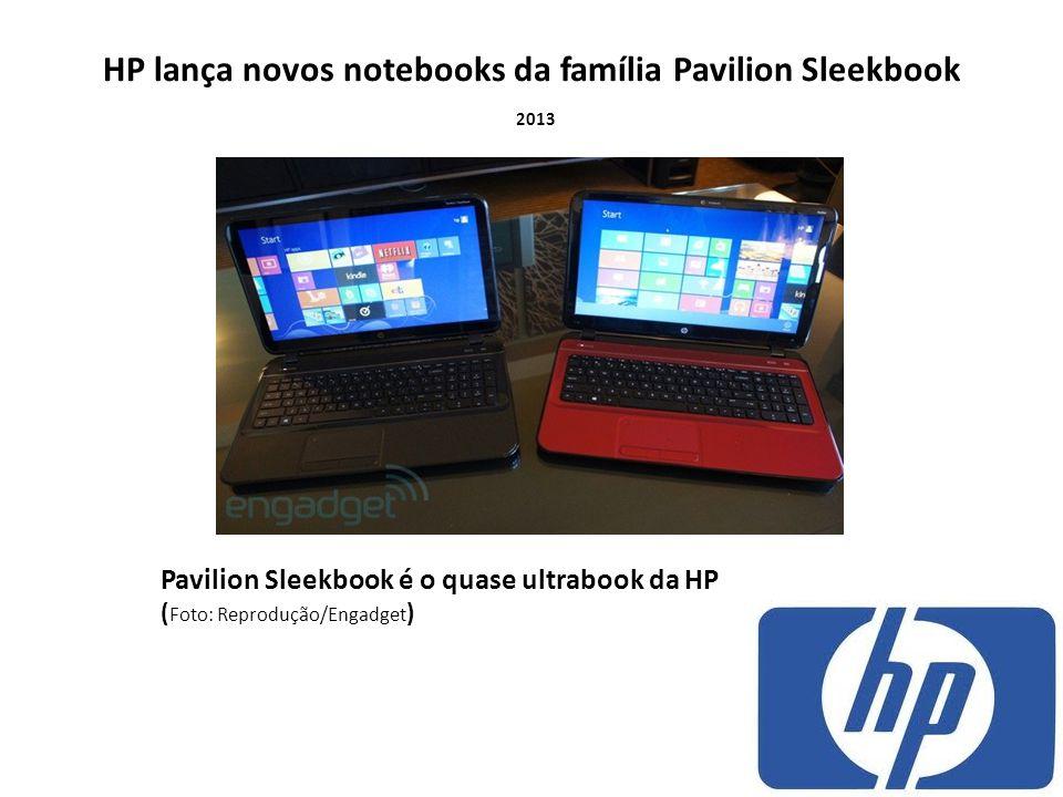 HP lança novos notebooks da família Pavilion Sleekbook 2013