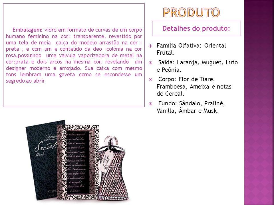 Produto Detalhes do produto: Família Olfativa: Oriental Frutal.