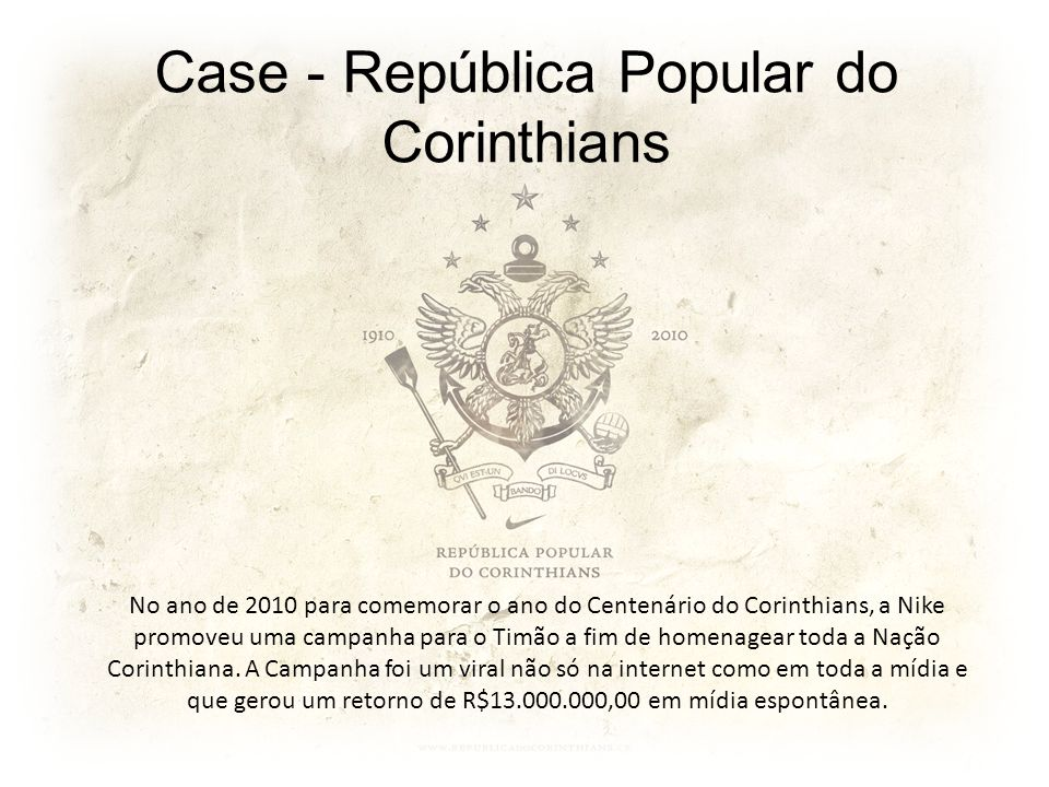 Case - República Popular do Corinthians