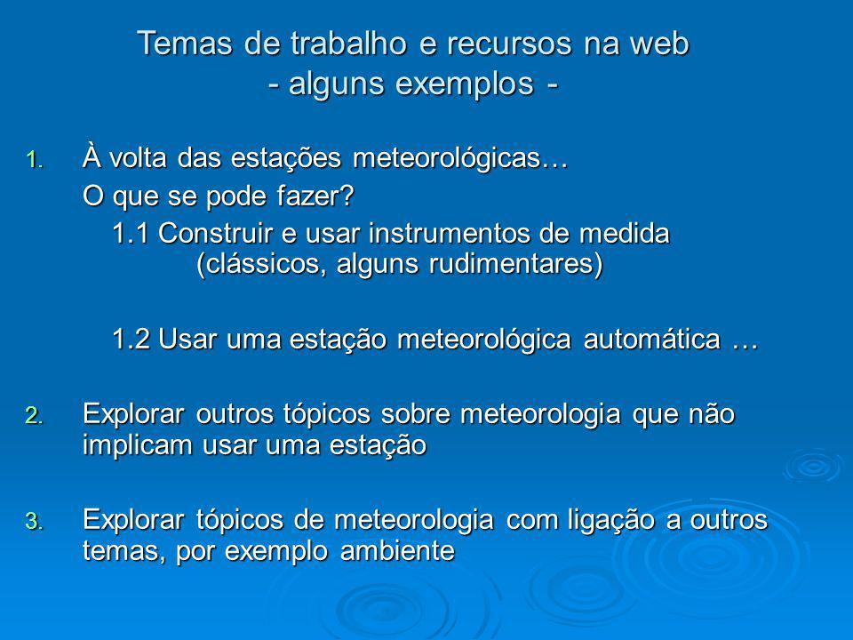 Temas de trabalho e recursos na web