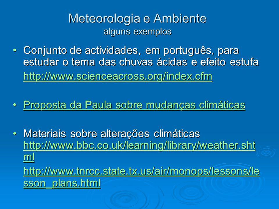 Meteorologia e Ambiente alguns exemplos