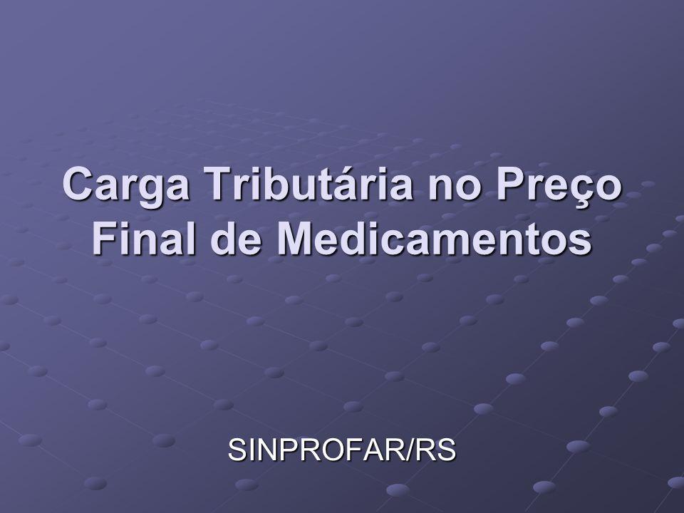 Carga Tributária no Preço Final de Medicamentos