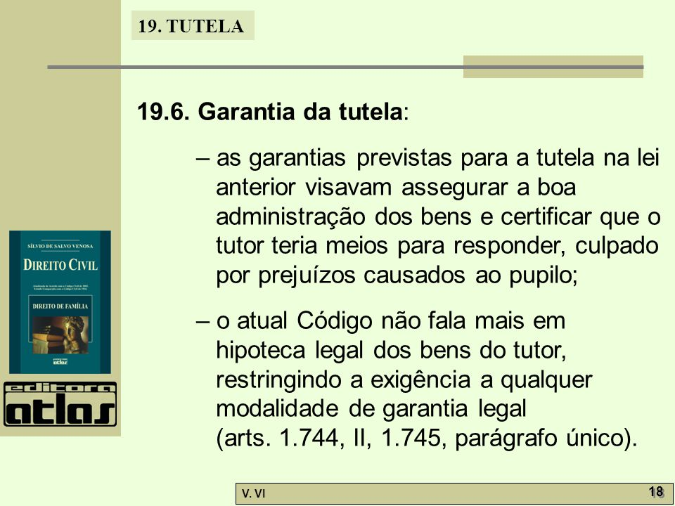 19.6. Garantia da tutela: