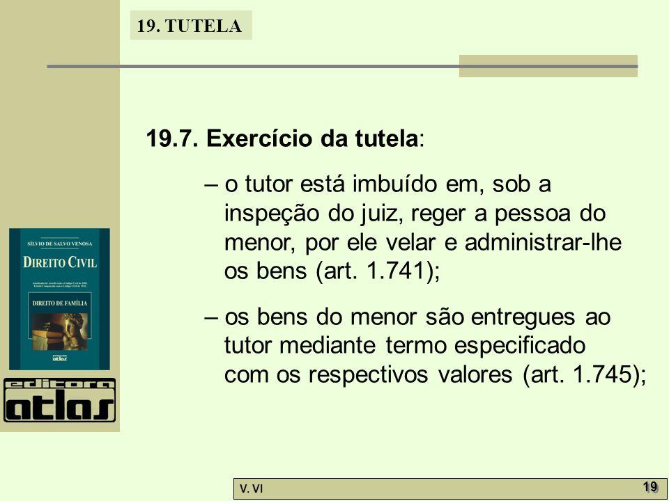 19.7. Exercício da tutela: