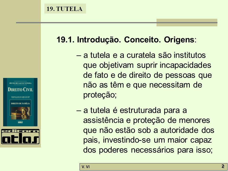 19.1. Introdução. Conceito. Origens: