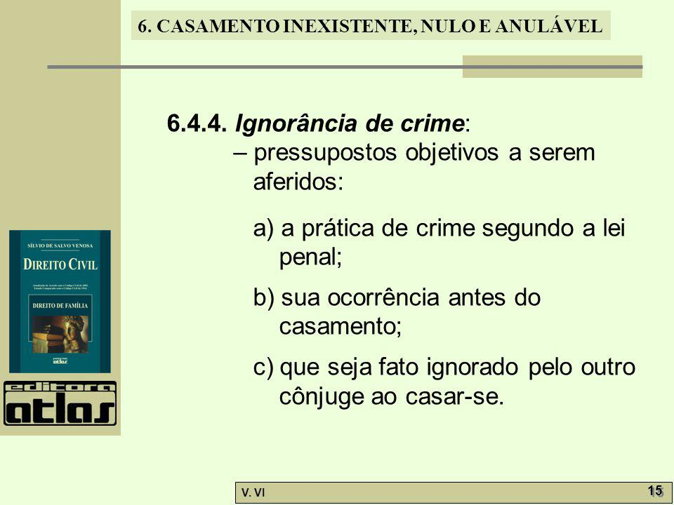 6.4.4. Ignorância de crime: – pressupostos objetivos a serem aferidos: a) a prática de crime segundo a lei penal;