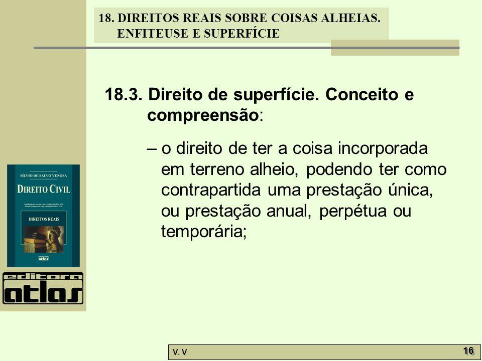 18.3. Direito de superfície. Conceito e compreensão:
