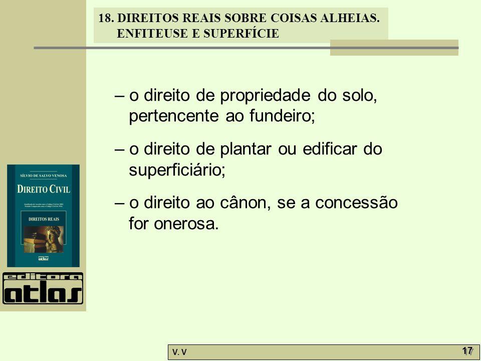 – o direito de propriedade do solo, pertencente ao fundeiro;