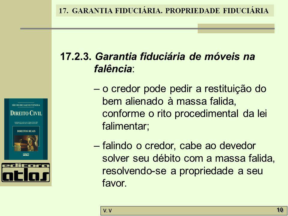 17.2.3. Garantia fiduciária de móveis na falência: