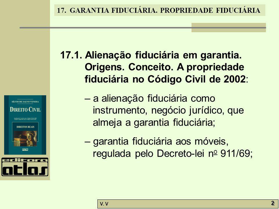 17. 1. Alienação fiduciária em garantia. Origens. Conceito
