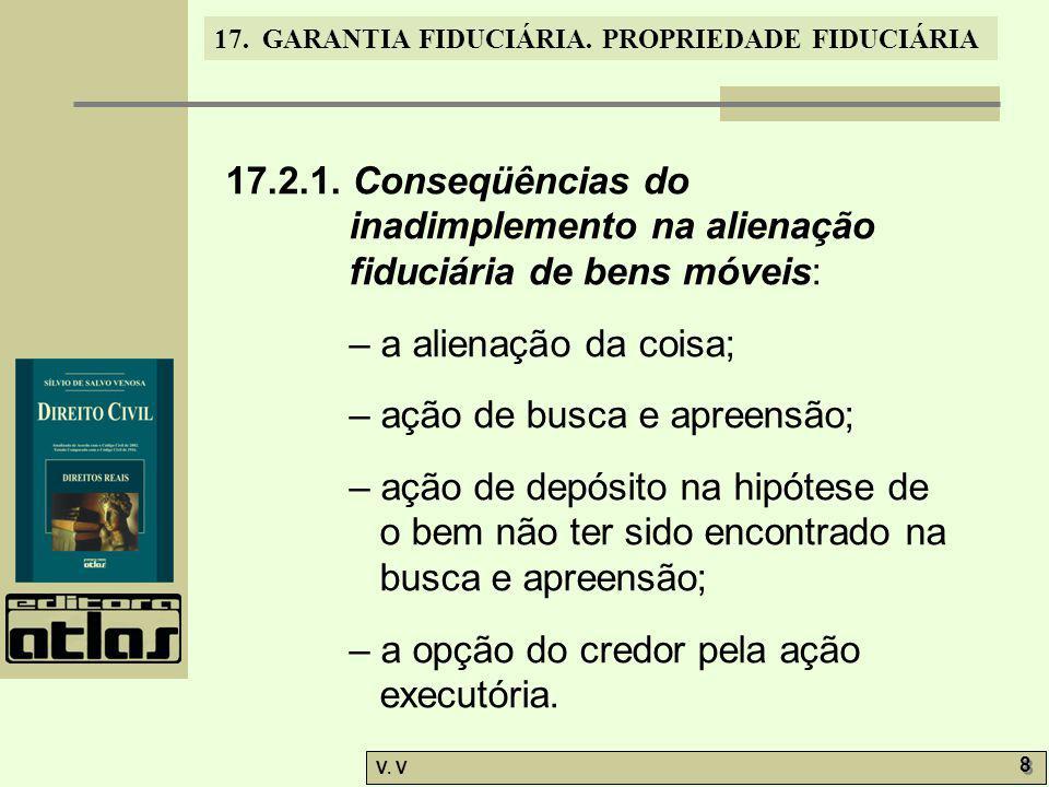 17.2.1. Conseqüências do inadimplemento na alienação fiduciária de bens móveis: