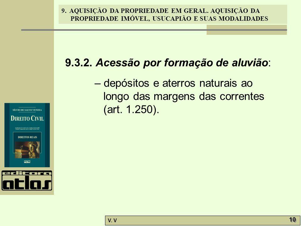 9.3.2. Acessão por formação de aluvião:
