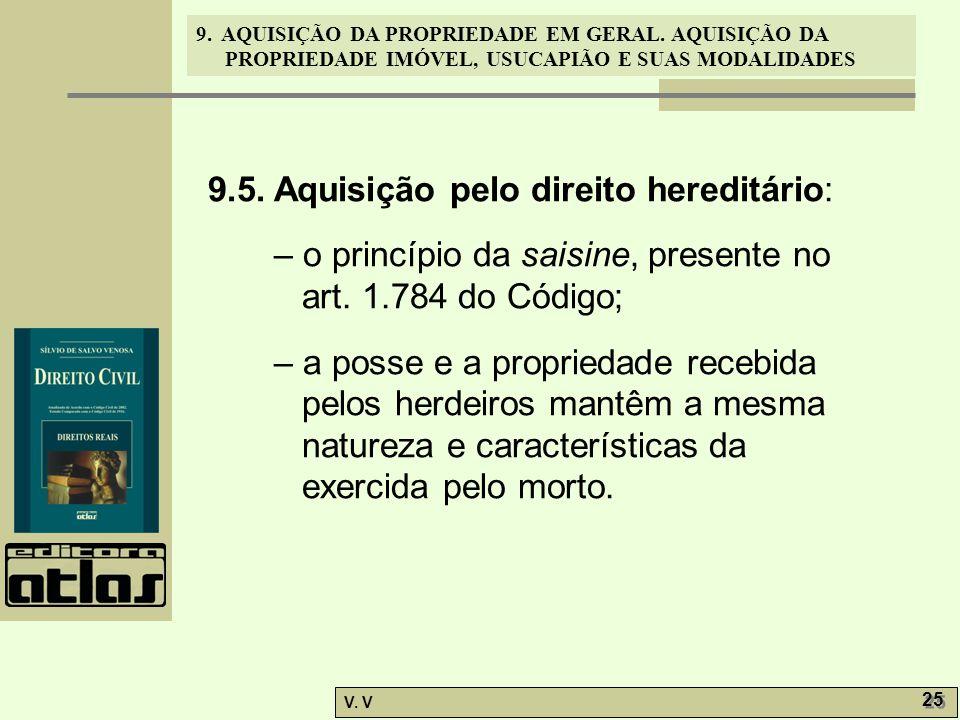 9.5. Aquisição pelo direito hereditário:
